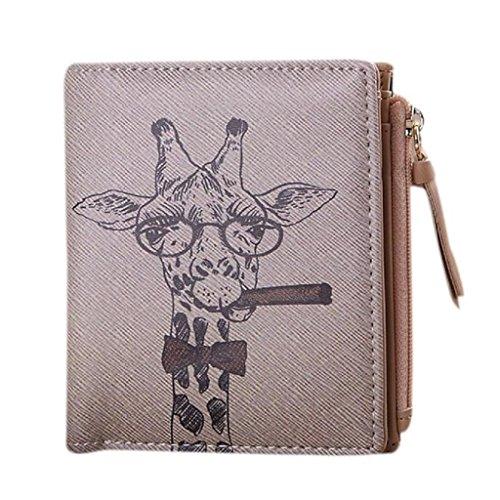 Vovotrade donne clip borsa epoca giraffa moneta breve portafoglio borsa della frizione