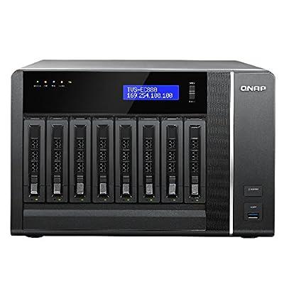 QNAP TVS-EC880-E3-16G-US 8-Bay Edge Cloud Turbo vNAS, SATA 6G, 4LAN, 10G-ready (16GB version) (TVS-EC880-E3-16G-US)
