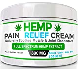 Organic Hemp Pain Relief Cream – 300 Mg – Made in USA