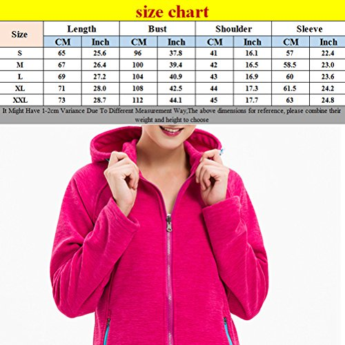 Zhhlaixing Women Ladies Classic Full Zip Fleece Hooded Jacket Micro Fleece Multi-color KR-YF6S00301 Purple