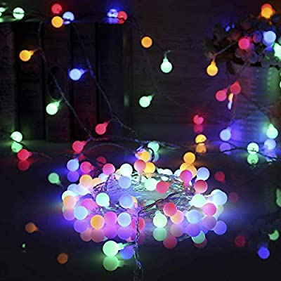 ALOVECO LED String Lights, 14.8ft 40 LED Waterproof Ball Lights, 8 Lighting Modes, Battery Powered Starry Fairy String Lights for Bderoom, Garden, Christmas Tree, Wedding, Party
