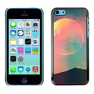 PC/Aluminum Funda Carcasa protectora para Apple Iphone 5C moon sky teal pink nature night space / JUSTGO PHONE PROTECTOR