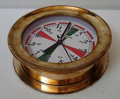 US Navy Marine RADIO ROOM BRASS Wall Clock LARGE Marine