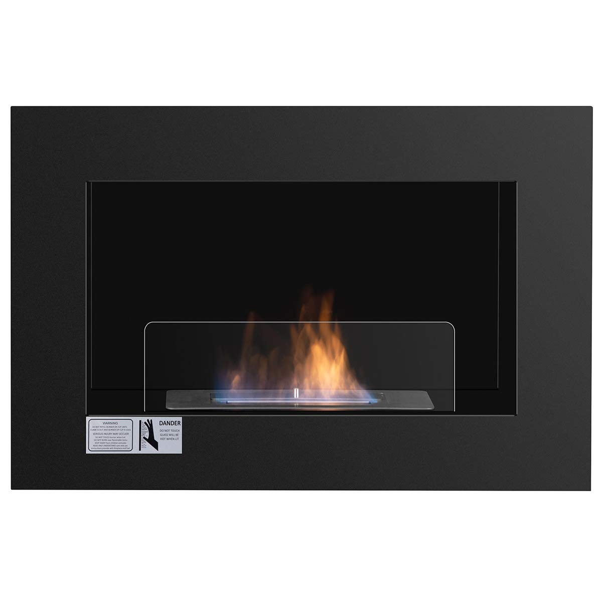 Tangkula 27.5'' Wall Mounted Bio-Ethanol Fireplace Ventless Hanging Fireplace Burner Tabletop Fireplace by Tangkula