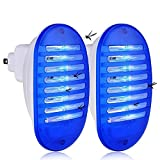 Sammiu 2 Pack Plug in Bug Zapper Mosquito Insect Killer Lamp Indoor, Flies Flying Pests Control for Home Yard Garden Patio Office (Blue)