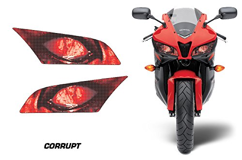 AMR Racing Sport Bike Headlight Eye Graphic Decal Cover for Honda CBR 600 RR 09-12 - Corrupt (09 Cbr)