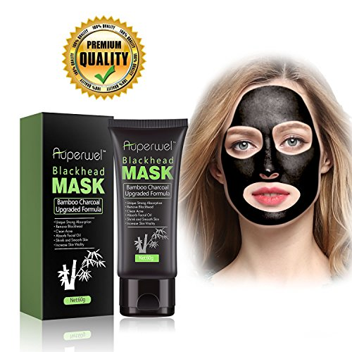 Blackhead Remover Mask Black Mask  Auperwel Purifying Quality Peel off Charcoal Deep Cleaning Mud Facial Mask 211 ounce Black Mask