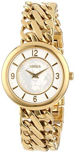 Versus by Versace SGF060013 Acapulco - Reloj de pulsera con cadena de acero inoxidable chapado en oro