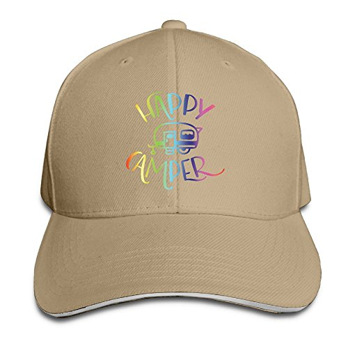 Price comparison product image SSUJ7 Happy Camper Custom Boys Girls Adjustable Baseball Hats for Toddler