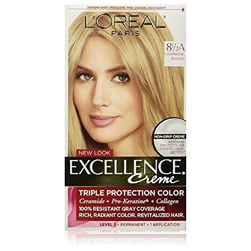 L'Oreal Paris Excellence Créme Permanent Hair Color, Champagne Blonde [8.5A] 1 ea ( Packs of - Champagne 8.5a