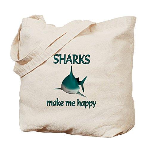 CafePress tiburón–Happy–Gamuza de bolsa de lona bolsa, bolsa de la compra