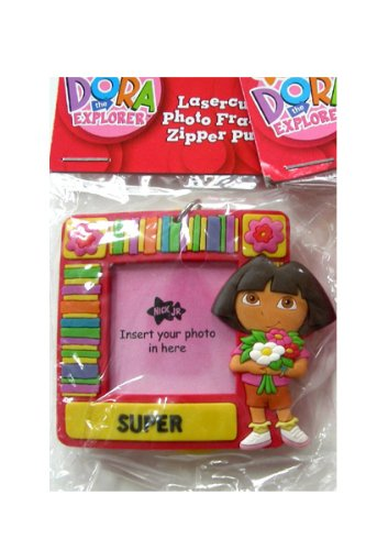 Nick Jr Dora The Explorer zipper pulls - Dora The Explorer Photo Frame zipper Pull - Explorer Zipper Pulls