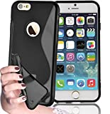 Iphone De Apple 6s Best Deals - Cadorabo - Silicone Case S-LINE SLIM-FLEX for Apple iPhone 6 / 6S (4.7) - Etui Cover Protection Bumper Skin in OXIDE-BLACK