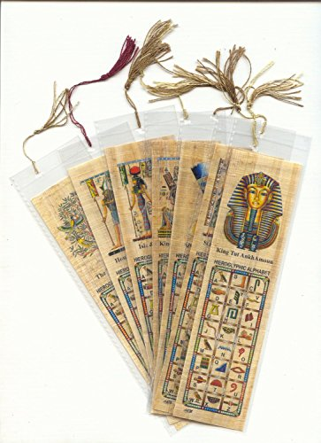 10 Assorted Egyptian Papyrus Bookmarks