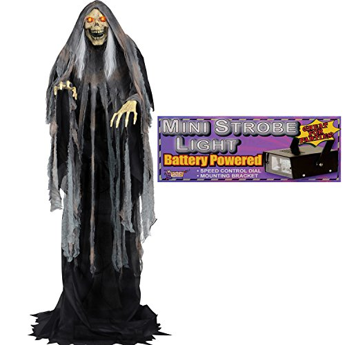 Rising Bog Reaper Animated Halloween Prop with Strobe