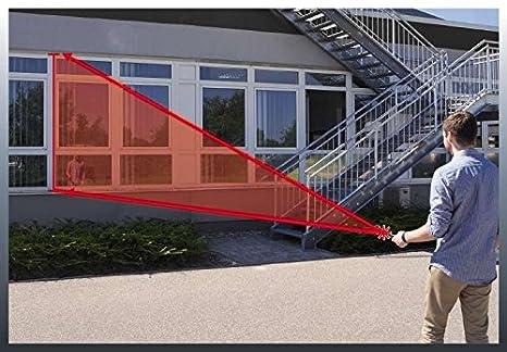 Rango de Trabajo: 0.05 m-50 m 1.5 V Rojo Einhell 2270080 Medidor Laser TC-LD 50