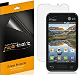 [6-Pack] Supershieldz- High Definition Clear Screen Protector For LG Optimus Fuel (Straight Talk, Tracfone, Net 10) + Lifetime Replacements Warranty [6-PACK] - Retail Packaging
