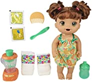 Baby Alive Magical Mixer Baby Doll Tropical Treat with Blender Accessories, Drinks, Wets, Eats, Brown Hair Toy