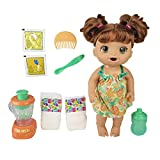 Toys : Baby Alive Magical Mixer Baby Doll Tropical Treat with Blender Accessories, Drinks, Wets, Eats, Brown Hair Toy for Kids Ages 3 and Up