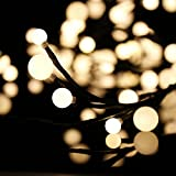 Christmas Gifts New Year Gifts Professional LED Ball String Light Christmas Festival Party Garden Decoration 8.2ft 72Pcs Warm White