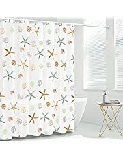 FYY Shower Curtain Liner, 72 x 72 Inch Heavy Duty Waterproof PEVA Shower Curtain Liners with Rust-Resistant Metal Grommets and 12 Plastic Hooks Thick Bathroom Shower Curtain Liner-Sea