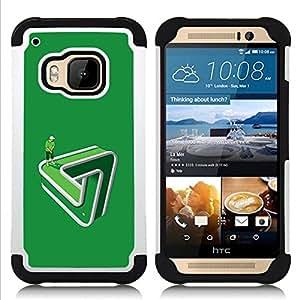 """HTC One M9 /M9s / One Hima - 3 en 1 impreso colorido de Altas Prestaciones PC Funda chaqueta Negro cubierta gel silicona suave (Divertido Golf Putting green Paradox"""")"""