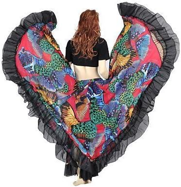 QWG ropa falda tela de chifón de seda Gipsy Belly Dance para damas ...