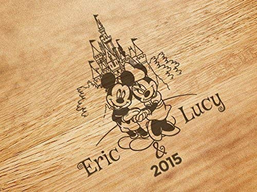 Mickey and Minnie At The Castle Personalized Kitchen Cutting Board