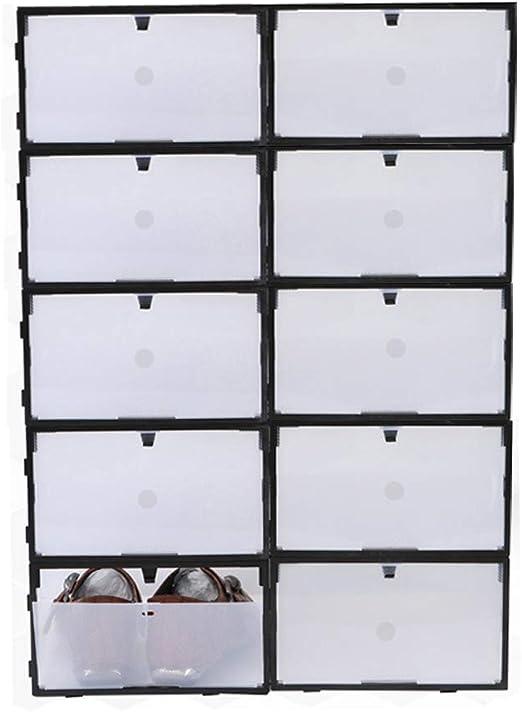 Sinbide 10 x Cajas de Zapatos Transparente Plástico, Caja Guardar ...