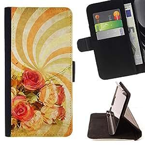 BullDog Case - FOR/HTC Desire 820 / - / wallpaper spiral hypnotic psychedelic art flowers /- Monedero de cuero de la PU Llevar cubierta de la caja con el ID Credit Card Slots Flip funda de cuer