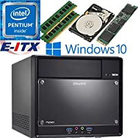 Shuttle SH110R4 Intel Pentium G4600 (Kaby Lake) XPC Cube System , 32GB Dual Channel DDR4, 240GB M.2 SSD, 1TB HDD, DVD RW, WiFi, Bluetooth, Window 10 Pro Installed & Configured by E-ITX