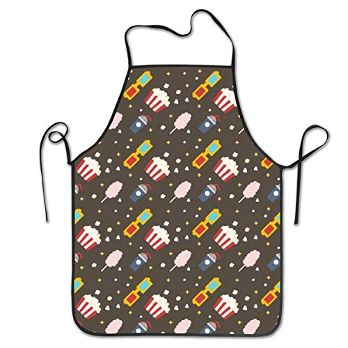 Hidden Ambition Popcorn Film Vintage Aprons for Women Mens Kitchen Aprons for Chef Waiter Cooking Baking Crafting Gardening BBQ -