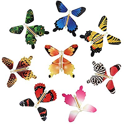 beemean Magic Flying Butterfly Gift Cards - Wind Up Butterfly in The Book Fairy Toy Great Surprise Wedding (8PCS): Toys & Games