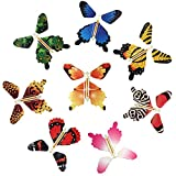 beemean Magic Flying Butterfly Gift Cards - Wind Up Butterfly in The Book Fairy Toy Great Surprise Wedding (8PCS)