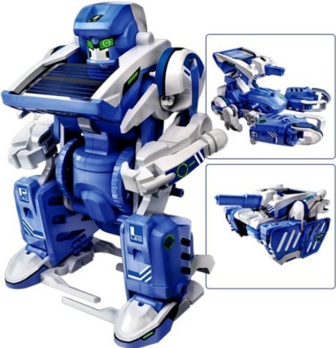 Electronictechcrafts® 3-in-1 Educational T3 Solar Transforming Robot Science Kit DIY ()