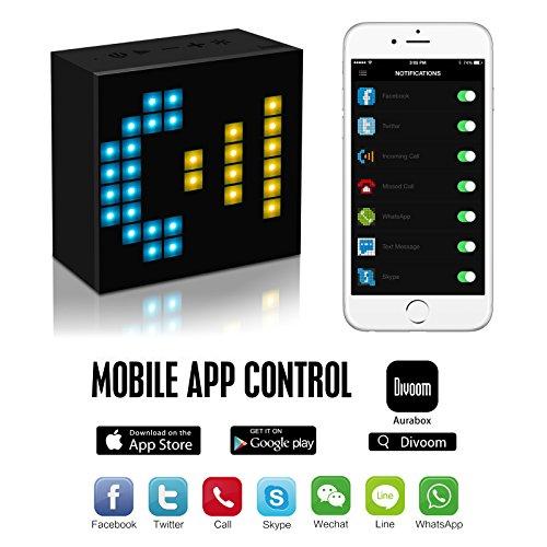 Divoom-Aurabox-Bluetooth-40-Smart-LED-Speaker-with-APP-Control-for-Pixel-Art-Creation-Black