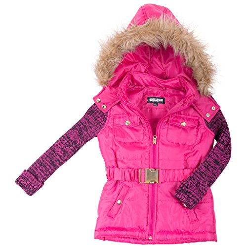 39767-fuschia-10-12-girls-puffer-jacket-sweater-sleeves-coat-with-hood