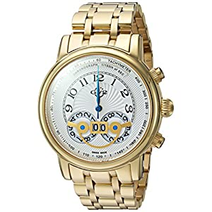 GV2 by Gevril Men's Quartz Stainless Steel Casual Watch, Color:Gold-Toned (Model: 8102B)