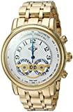 GV2 by Gevril Montreux Mens Chronograph Swiss Quartz Tachymeter Round Case Gold Tone Stainless Steel Watch, (Model: 8102B)