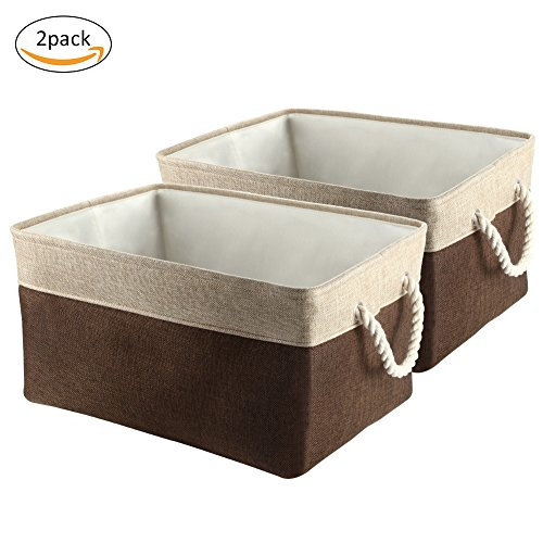Collapsible Storage Bins, IdealHouse Foldable Canvas Fabric
