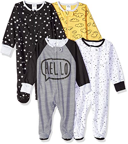 GERBER Baby Boys' 4-Pack Sleep 'N Play, Star, 3-6 Months