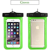 """Radjawali Universal Waterproof Case IPX8 Phone Case Pouch Dry Bag for iPhone Xs Max XR XS X 8 7 6s 6 Plus, Samsung S10+ S10 S10e S9 S8, Google Pixel 2, Up to 6.6"""" Green unknown"""