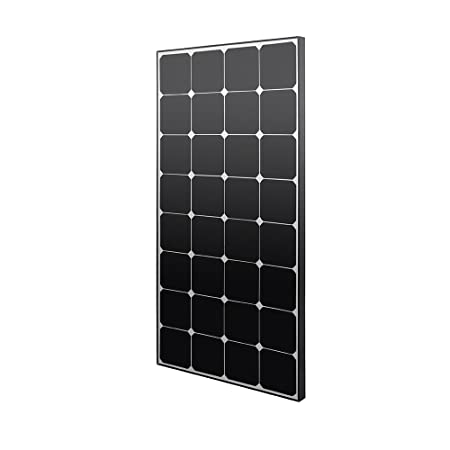 front facing Renogy Eclipse 100 Watt 12 Volt Monocrystalline Solar Panel