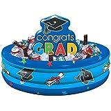"Loud and Proud Graduation Party ""Congrats Grad!"" Inflatable Cooler, Blue, 14"" x 29"""