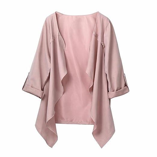 Feixiang - Chaqueta de punto para mujeres con personalidad, personalización exclusiva, para otoño y primavera, abrigo suelto de manga larga, ...