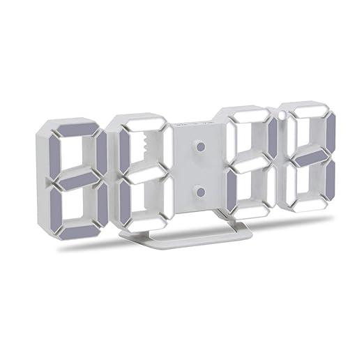 Sinzong Reloj Despertador Relojes De Alarma Led 3D Mesa De ...