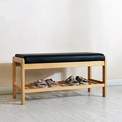 Xiegui Shoe Rack Solid wood shoe rack, living room bedroom shoes stool, birch shoes stool, color bed bed tail wood stool (Size : 850340420mm)