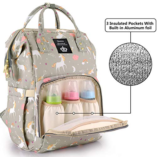 c5f5a97e0985 Diaper Bag Backpack for Mom/Dad,Wide Open Multi-Function Waterproof ...