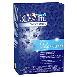 Crest 3D White Whitestrips Vivid Dental Whitening Kit, 12 Pouches (B0052OXNW6)   Amazon price tracker / tracking, Amazon price history charts, Amazon price watches, Amazon price drop alerts