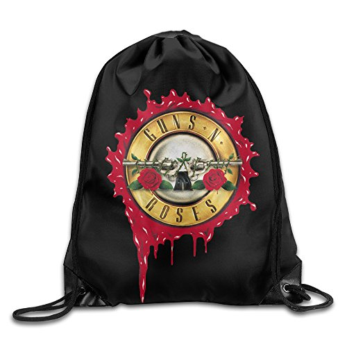 YYHU Guns Roses Sackpack Rucksack Shoulder Bags Sport Gym Bag - Great For Travel And Everyday (Philadelphia Flyers Halloween Costumes)